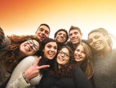 TEEN GROUP stock-photo-53073626-group-of-college-student-laughing-and-doing-a-selfie